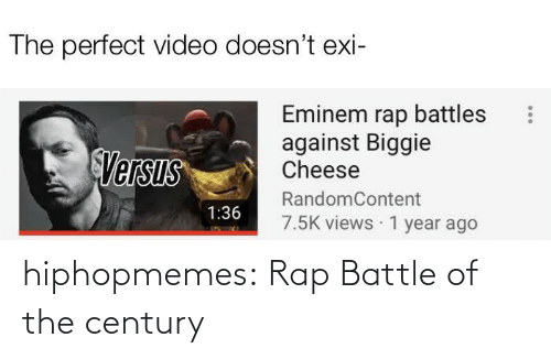 Rap: hiphopmemes:  Rap Battle of the century