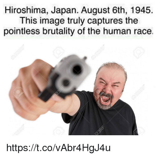brutality: Hiroshima, Japan. August 6th, 1945.  This image truly captures the  pointless brutality of the human race. https://t.co/vAbr4HgJ4u