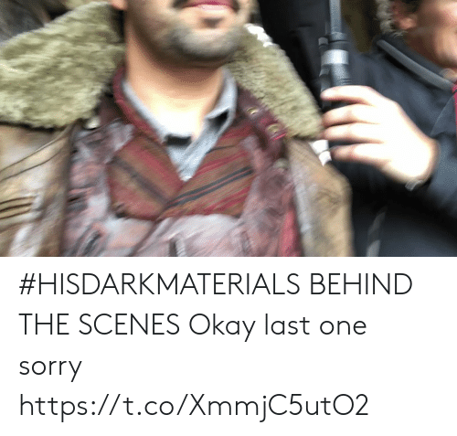 Behind The: #HISDARKMATERIALS BEHIND THE SCENES Okay last one sorry https://t.co/XmmjC5utO2
