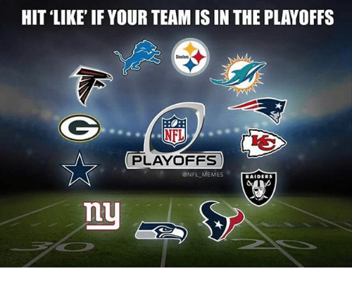 NFL playoffs: HIT LIKE IF YOUR TEAM IS IN THE PLAYOFFS  NFL  PLAYOFFS  ONFL MEMES  RAIDERS