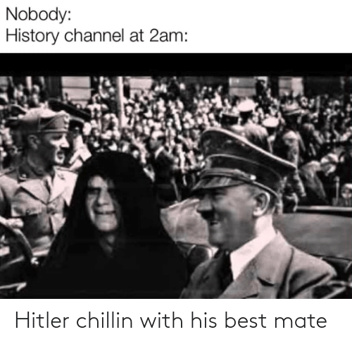 Hitler: Hitler chillin with his best mate