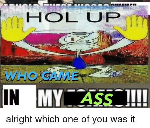 Ass, Dank Memes, and Hol Up: HOL UP  WHO CAME  IN  ASS