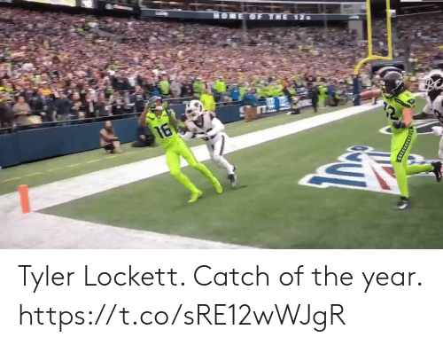 Football, Nfl, and Sports: HOLE OF THE 12s  16  CERECARRAN Tyler Lockett.  Catch of the year. https://t.co/sRE12wWJgR