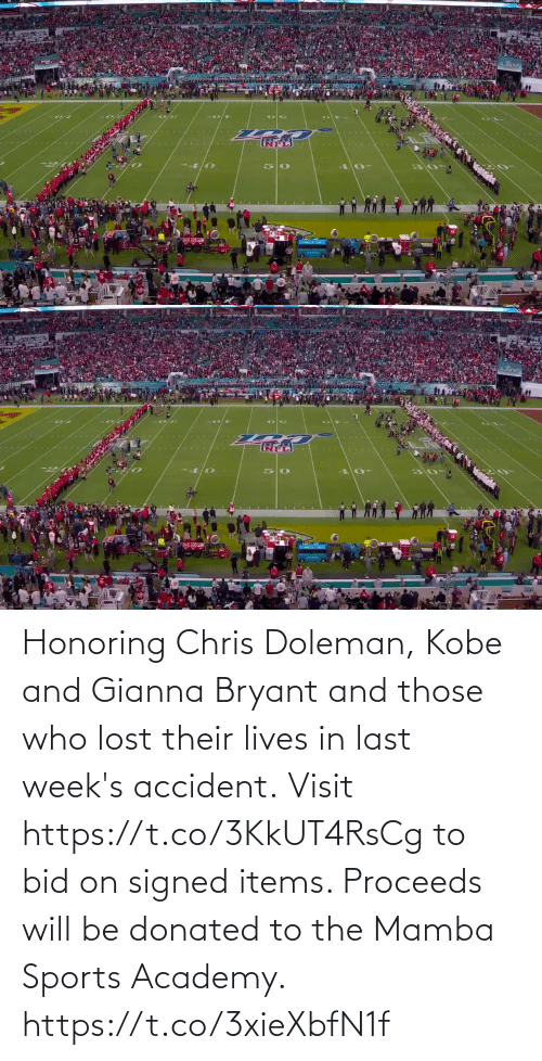 Lost: Honoring Chris Doleman, Kobe and Gianna Bryant and those who lost their lives in last week's accident.  Visit https://t.co/3KkUT4RsCg to bid on signed items. Proceeds will be donated to the Mamba Sports Academy. https://t.co/3xieXbfN1f