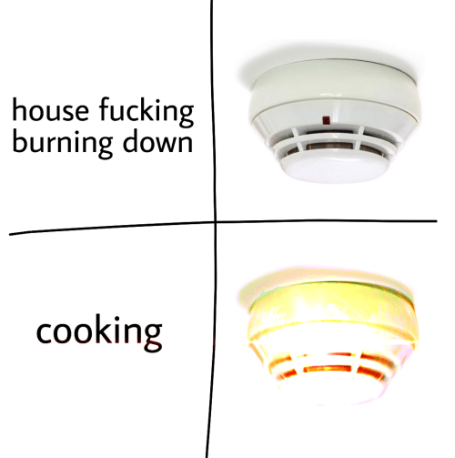 Fucking, House, and Down: house fucking  burning down  cooking