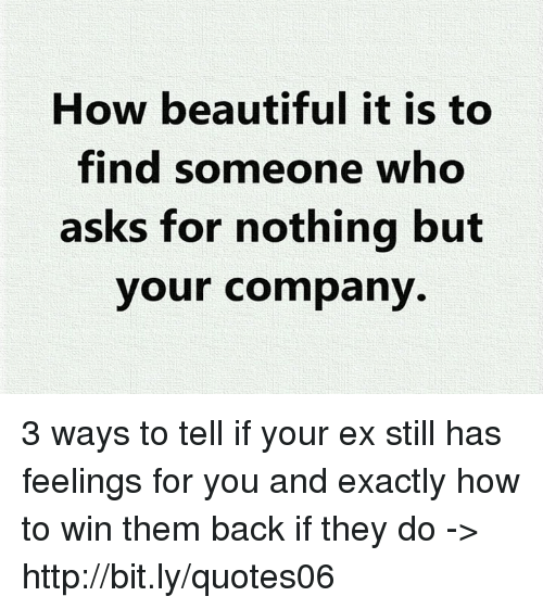 How Beautiful It Is to Find Someone Who Asks for Nothing but