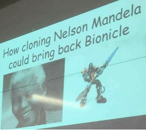 Nelson Mandela, Bionicle, and Back: How cloning Nelson Mandela  could bring back Bionicle