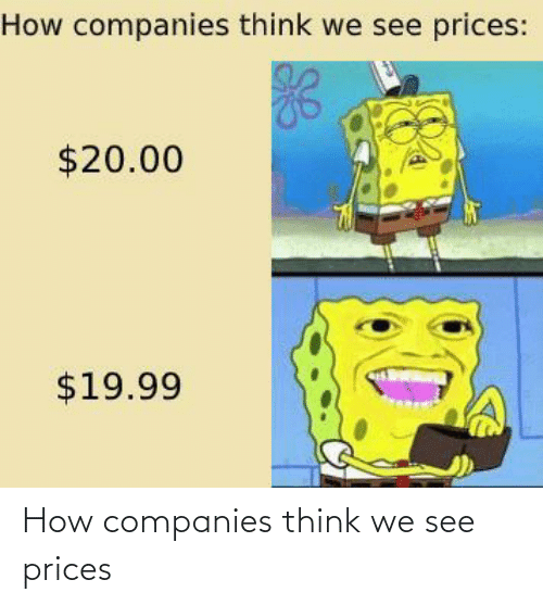 companies: How companies think we see prices