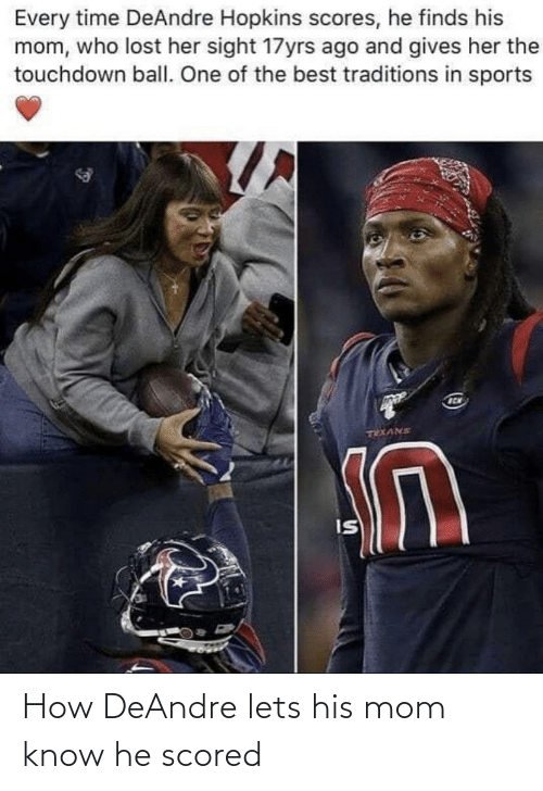 Mom: How DeAndre lets his mom know he scored