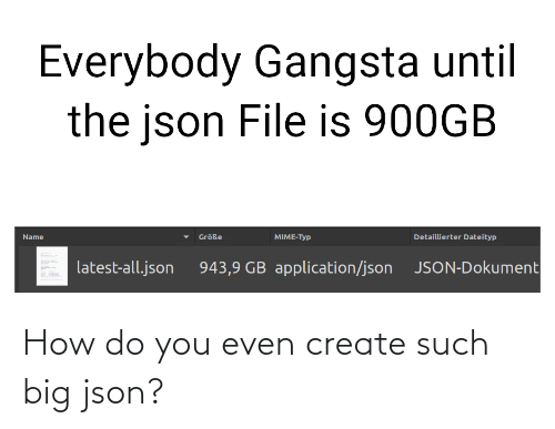 create: How do you even create such big json?