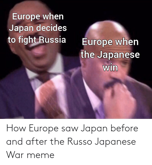 Japan: How Europe saw Japan before and after the Russo Japanese War meme