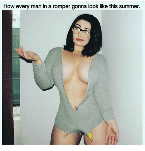 Memes, Summer, and 🤖: How every man in a romper gonna look like this summer.