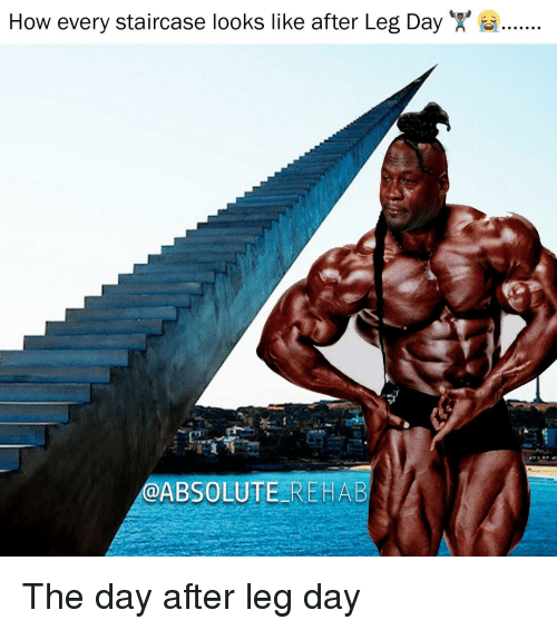 Day After Leg Day: How every staircase looks like after Leg Day  @ABSOLUTE REHAB