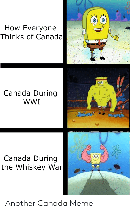 Canada Meme: How Everyone  Thinks of Canada  Canada During  wWI  KOO  Canada During  the Whiskey War Another Canada Meme