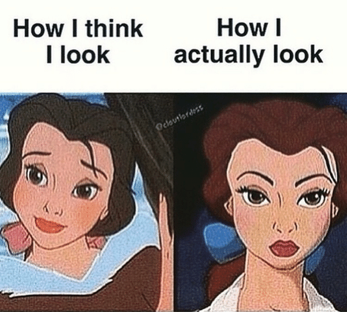 How, Think, and Look: How I think  I look  How I  actually look