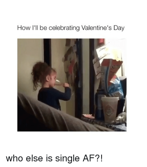 Af, Valentine's Day, and Girl Memes: How I'll be celebrating Valentine's Day who else is single AF?!