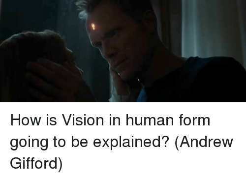 Memes, Vision, and 🤖: How is Vision in human form going to be explained?  (Andrew Gifford)