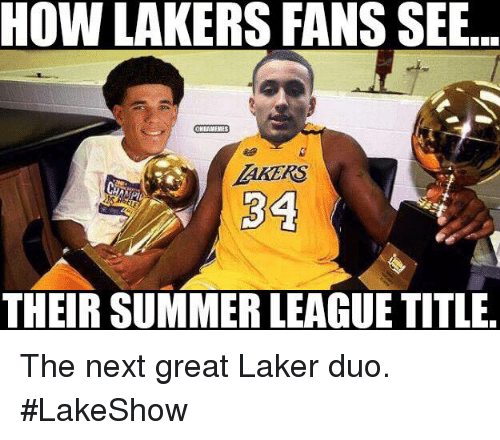 laker: HOW LAKERS FANS SEB  THEIR SUMMER LEAGUE TITLE The next great Laker duo. #LakeShow