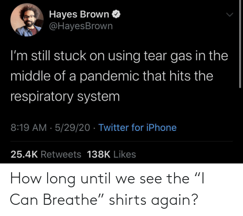 """Shirts: How long until we see the """"I Can Breathe"""" shirts again?"""