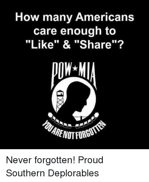"""Proudness: How many Americans  care enough to  """"Like"""" & """"Share""""? Never forgotten! Proud Southern Deplorables"""