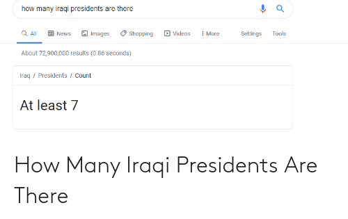 Iraqi: How Many Iraqi Presidents Are There
