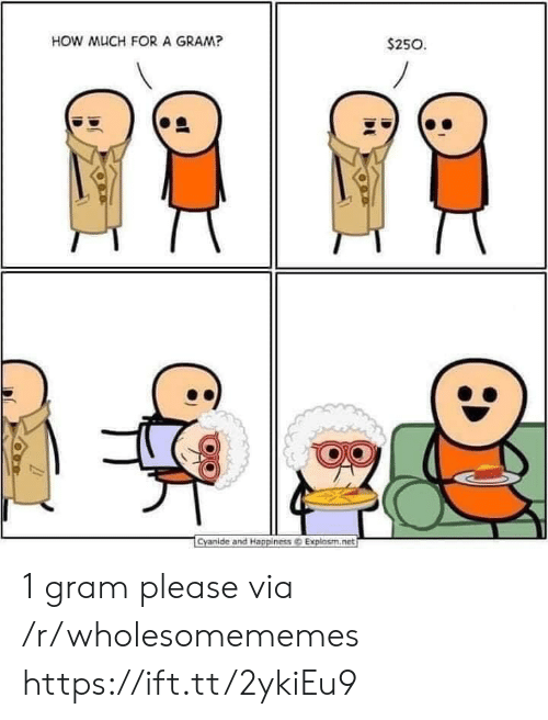 Happiness Explosm: HOW MUCH FORA GRAM?  $250  Cyanide and Happiness@ Explosm.net 1 gram please via /r/wholesomememes https://ift.tt/2ykiEu9