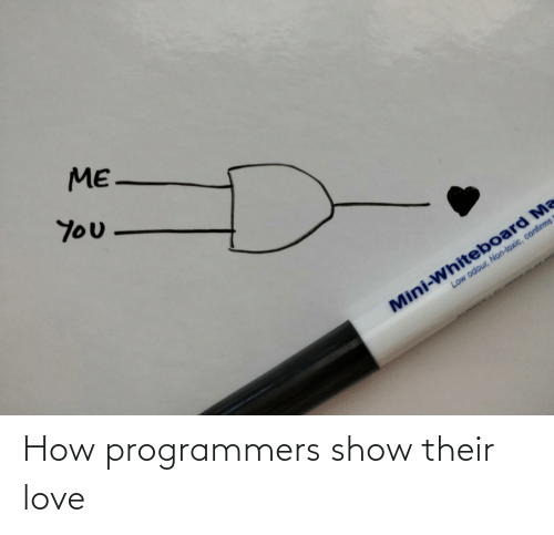 how: How programmers show their love