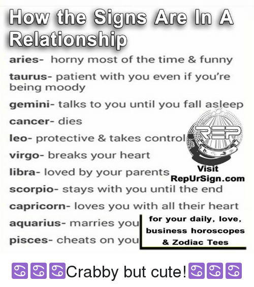 How the Signs Are in a Relationship Aries- Horny Most of the