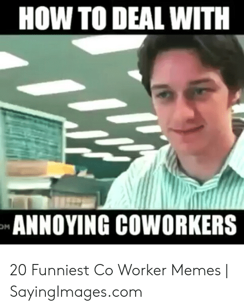 Memes, How To, and Coworkers: HOW TO DEAL WITH  ANNOYING COWORKERS 20 Funniest Co Worker Memes | SayingImages.com