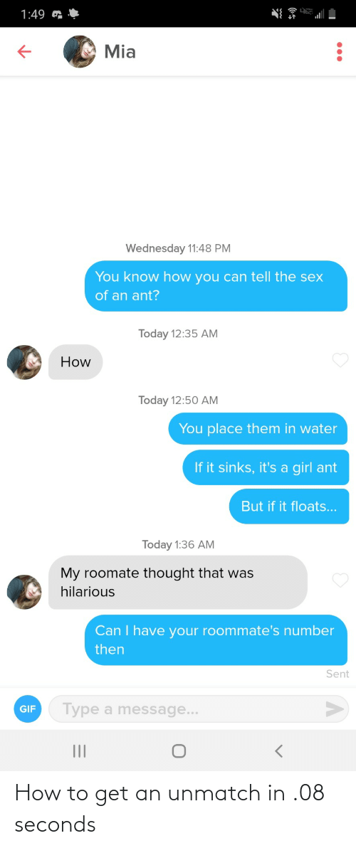 How To Get: How to get an unmatch in .08 seconds