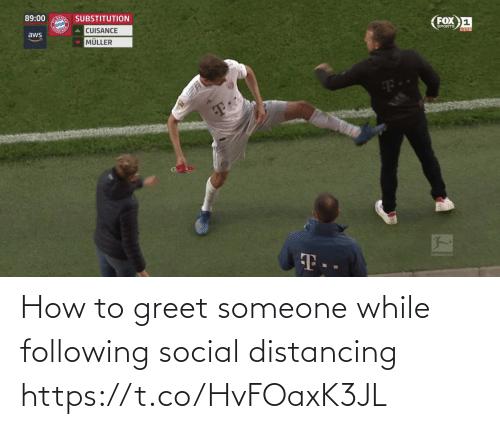 following: How to greet someone while following social distancing https://t.co/HvFOaxK3JL