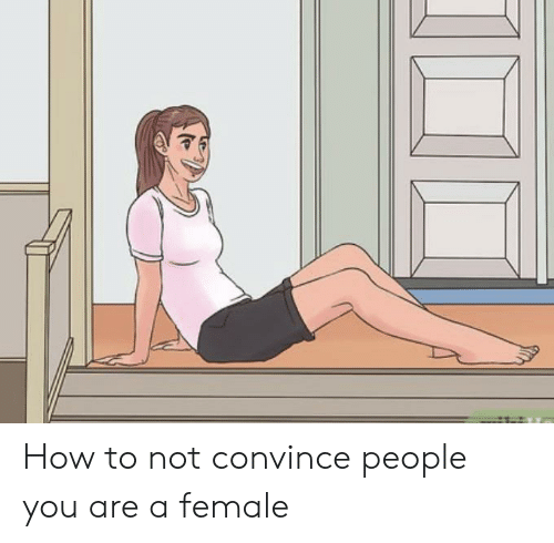 How To, How, and You: How to not convince people you are a female
