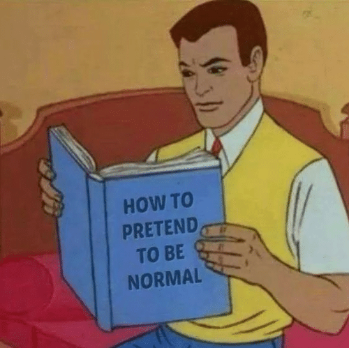 How To, How, and Normal: HOW TO  PRETEND,  TO BE  NORMAL