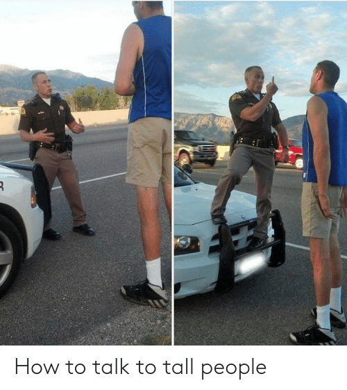 How To, How, and People: How to talk to tall people