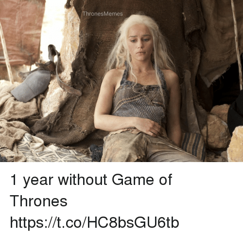 Game of Thrones, Memes, and Game: hronesMemes 1 year without Game of Thrones https://t.co/HC8bsGU6tb