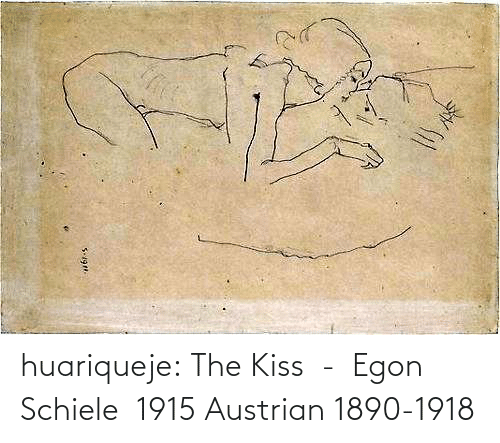 Kiss: huariqueje:  The Kiss  -  Egon Schiele  1915 Austrian 1890-1918