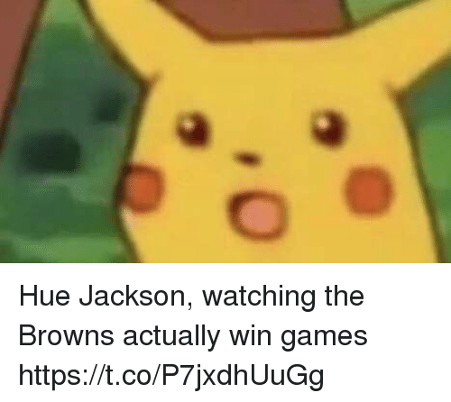 Sports, Browns, and Games: Hue Jackson, watching the Browns actually win games https://t.co/P7jxdhUuGg