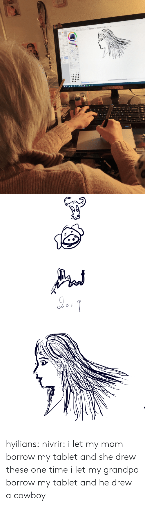 Tablet, Target, and Tumblr: hyilians:  nivrir:  i let my mom borrow my tablet and she drew these  one time i let my grandpa borrow my tablet and he drew a cowboy