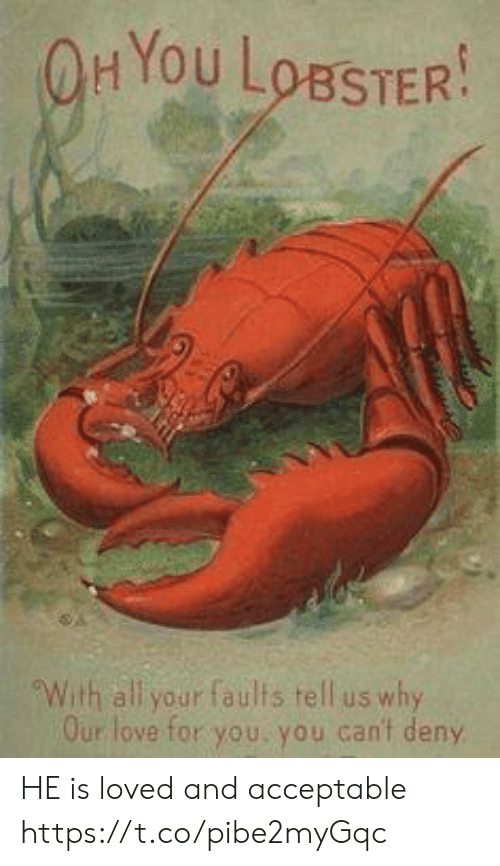 Hyou: HYou LoBSTER  With all your faults tell us why  Our love for you, you can't deny HE is loved and acceptable https://t.co/pibe2myGqc