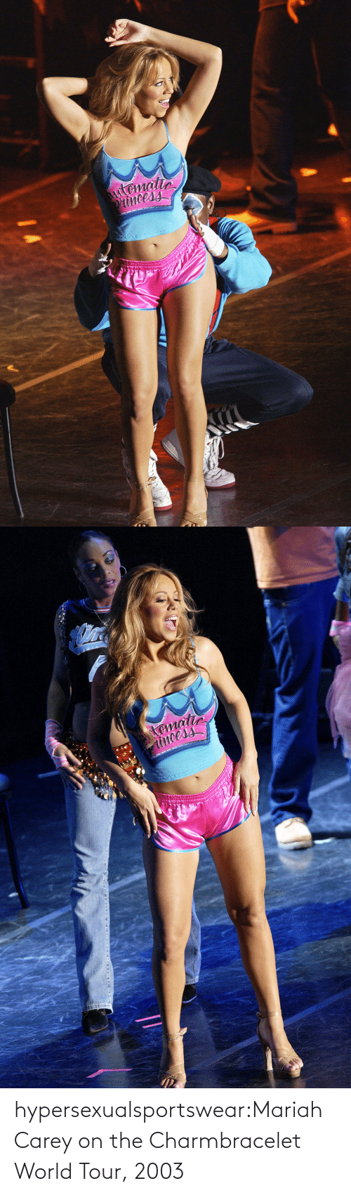 Carey: hypersexualsportswear:Mariah Carey on the Charmbracelet World Tour, 2003