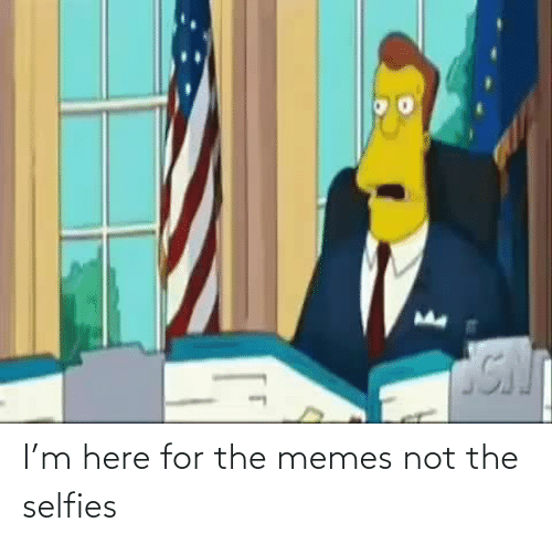 selfies: I'm here for the memes not the selfies