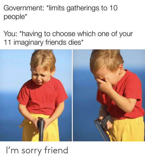 Sorry: I'm sorry friend