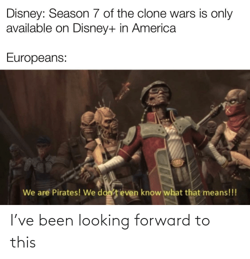 Forward: I've been looking forward to this