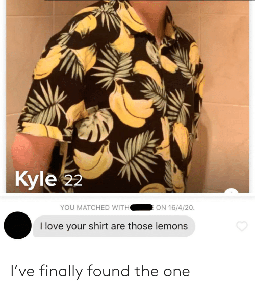The One: I've finally found the one