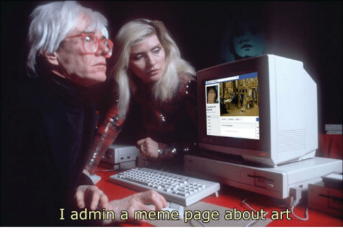 Meme, Classical Art, and Page: I admin a meme page about art