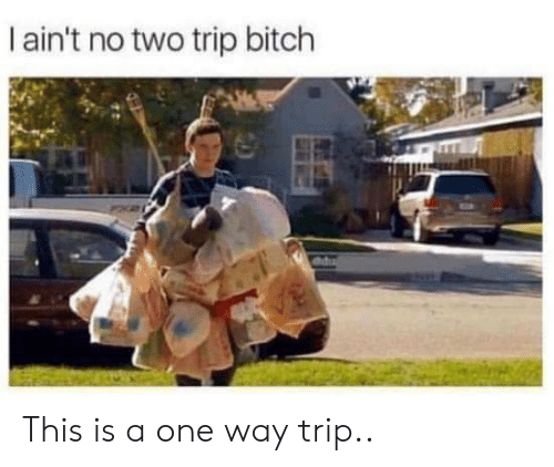 Bitch, One, and Trip: I ain't no two trip bitch This is a one way trip..