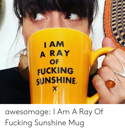 Fucking, Tumblr, and Blog: I AM  A RAY  OF  FUCKING  SUNSHINE. awesomage:  I Am A Ray Of Fucking Sunshine Mug