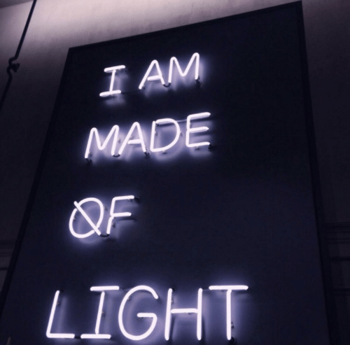 Light, Made, and I Am: I AM  MADE  QF  LIGHT