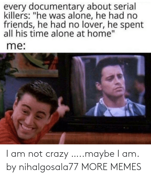 Am Not: I am not crazy …..maybe I am. by nihalgosala77 MORE MEMES