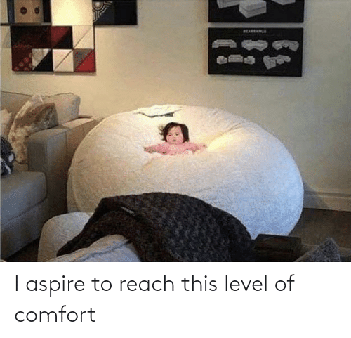 comfort: I aspire to reach this level of comfort